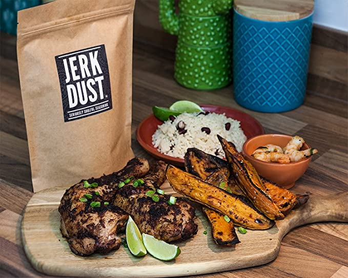 Jerk Dust – Mezcla de especias jamaicanas Jerk & Condimento para barbacoa -