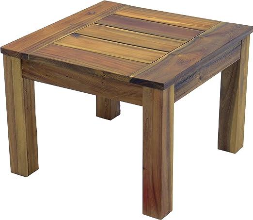 Mesa auxiliar de jardín de madera de teca y del ACAIA de la mesa ...