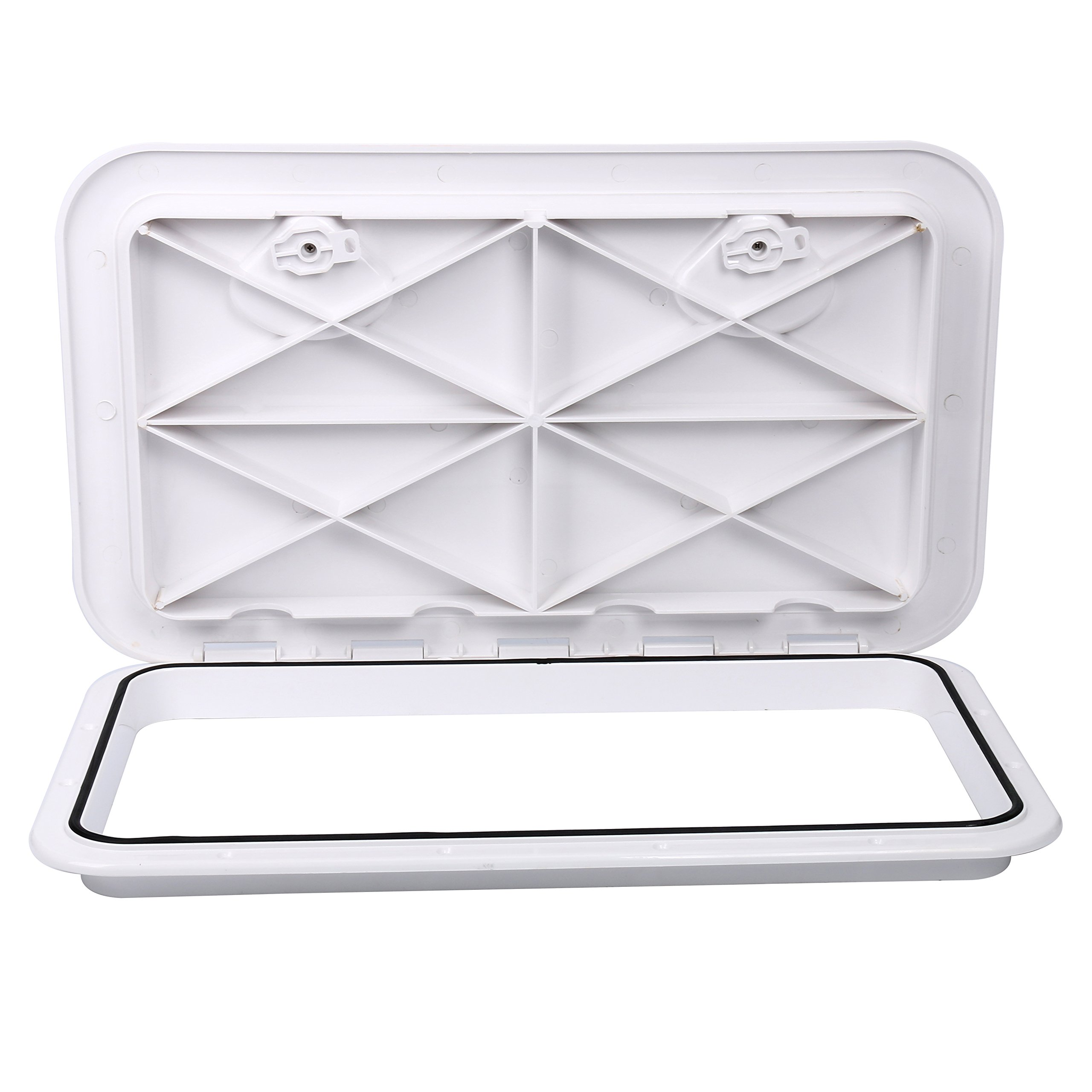 Amarine-made Marine Deck Hatch Boat Deck Hatch Access Hatch & Lid 24'' X 14'' - White by Amarine-made