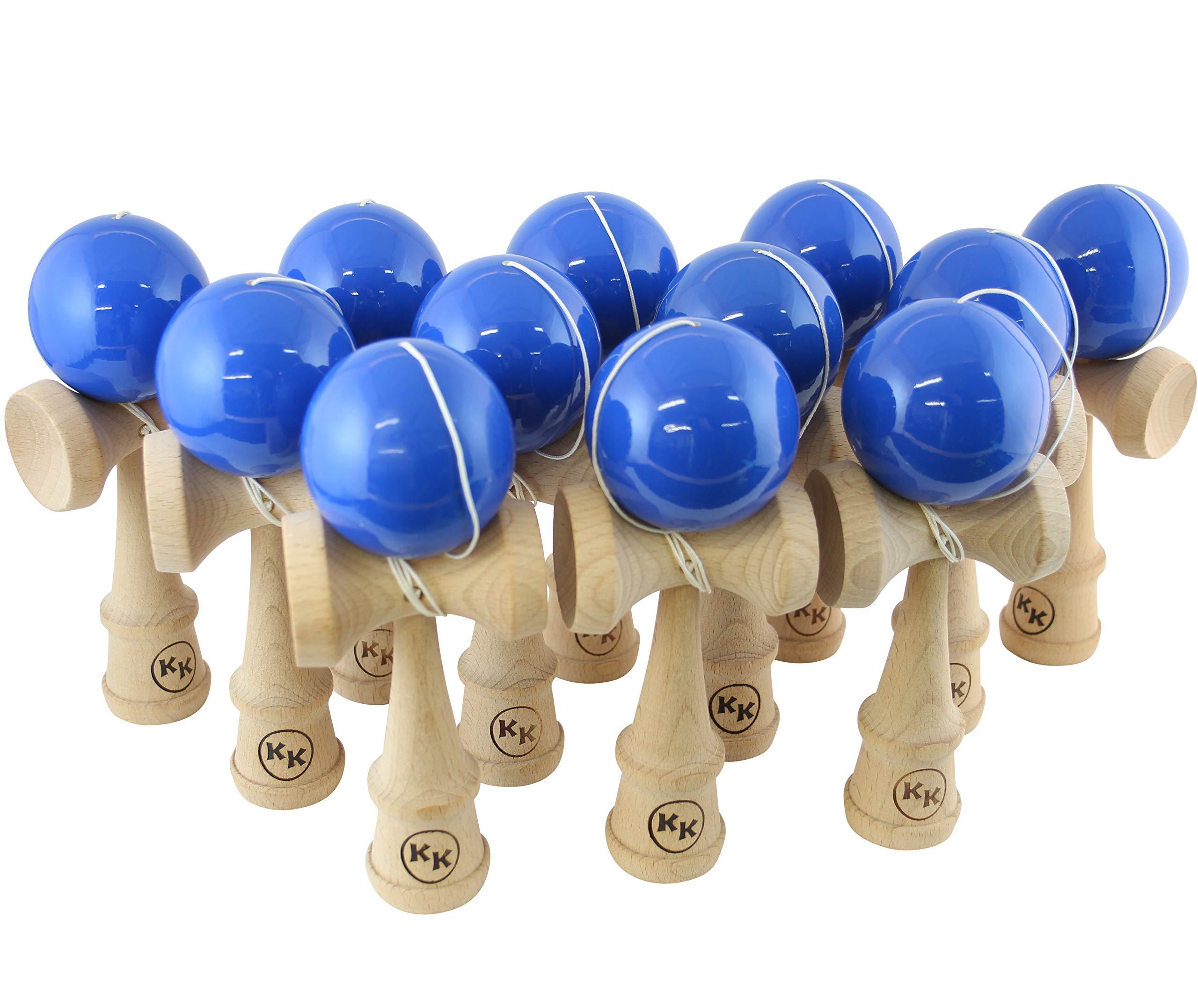 Kotaro Pro Wood Kendama 12 Pack of Bulk Kendamas (Blue)