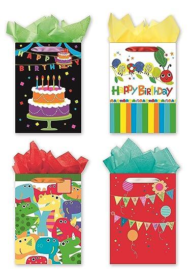 4 Jumbo Party Gift Bags Birthday
