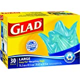 Glad Easy-Tie Large Recycling Blue Bags, 30 bags