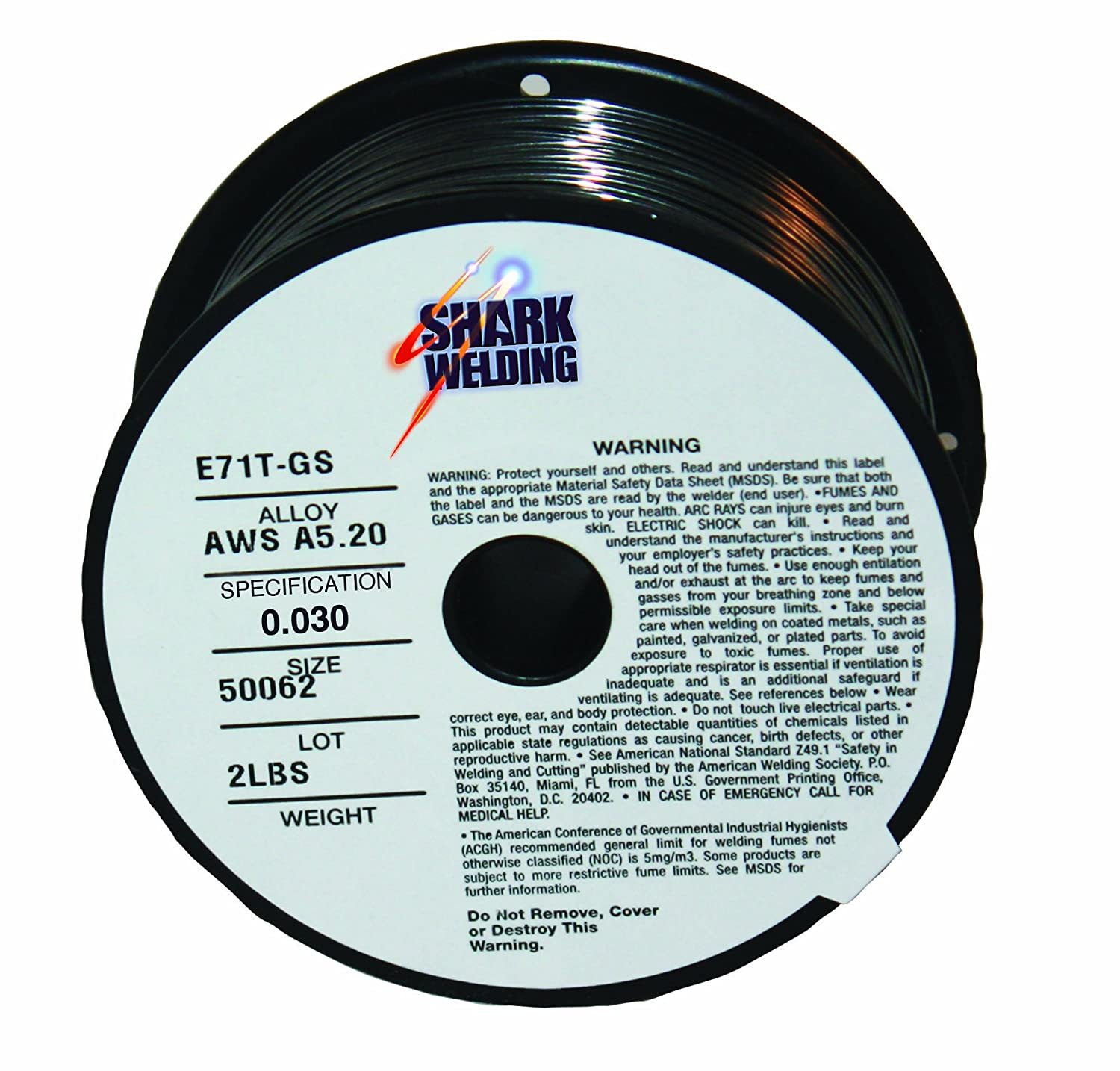 Shark Welding 12009 Gasless Flux Cored MIG Wire E71T-GS .035 - 2 lb ...