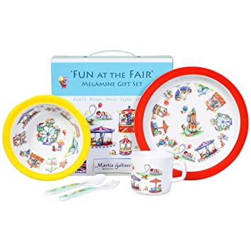 Martin Gulliver Designs 5-piece Fun at the Fair Melamine Gift Set - BPA u0026  sc 1 st  Amazon.com & Amazon.com: Martin Gulliver Designs 5-piece Fun at the Fair Melamine ...
