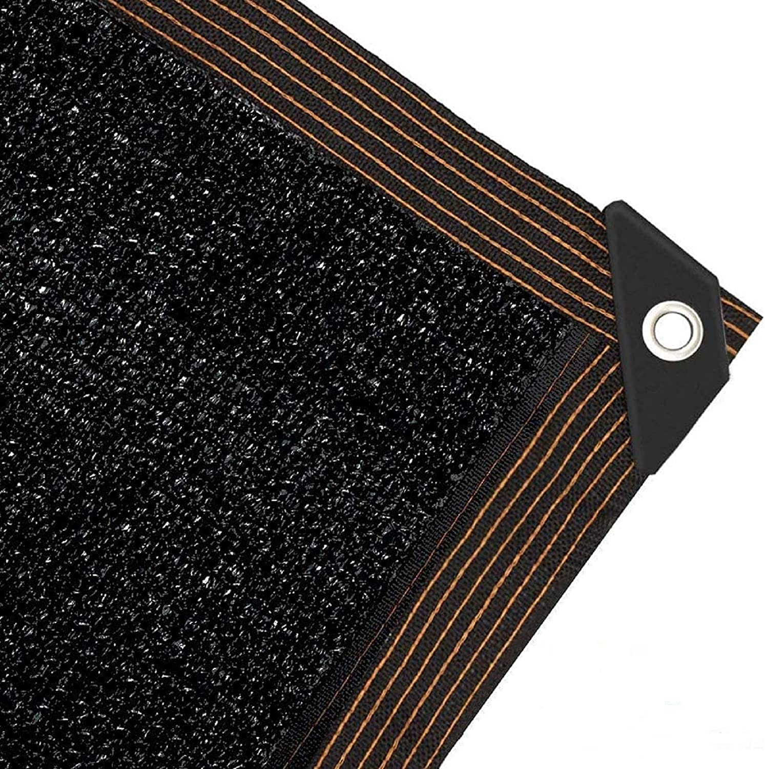 Milky House Shade Cloth 90% Sunblock Mesh 6.5FT x 6.5FT Taped Edge with 8 Aluminum Grommets Easier to Hang, UV Resistant Shade Sun Black Net for Greenhouse Flowers Plants Patio Lawn Mesh
