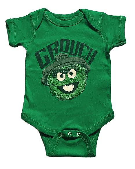 Sesame Street Baby Boys Grouch One Piece Snap Bodysuit Tee 18 24 Months