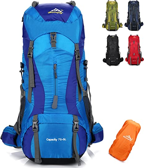 60+5L Extra Large Travel Backpack Hiking//Camping Rucksack Luggage Bag SP