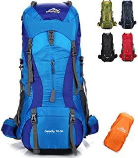 onyorhan 70L+5L Mochila Viaje Trekking Excursionismo Senderismo Alpinismo Escalada Camping Hombre Mujer