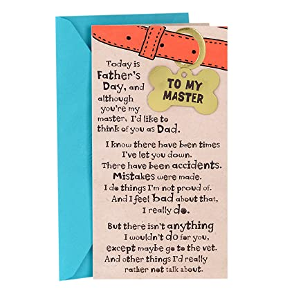 Amazon hallmark funny fathers day greeting card from the dog hallmark funny fathers day greeting card from the dog ill never leave my m4hsunfo