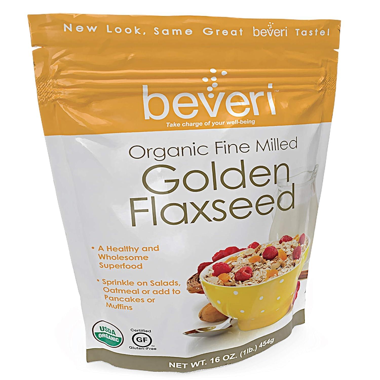 Beveri Nutrition, semillas de lino fresado de oro orgánico ...