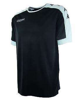 Kappa Tanis SS Camiseta Fútbol, Unisex, Negro, 6Y/8Y