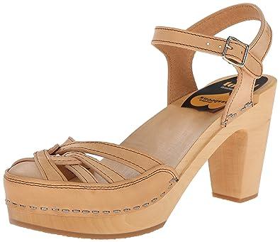 3dd5052b9fe9 swedish hasbeens Women s Agneta Platform Sandal Nature 6 M US