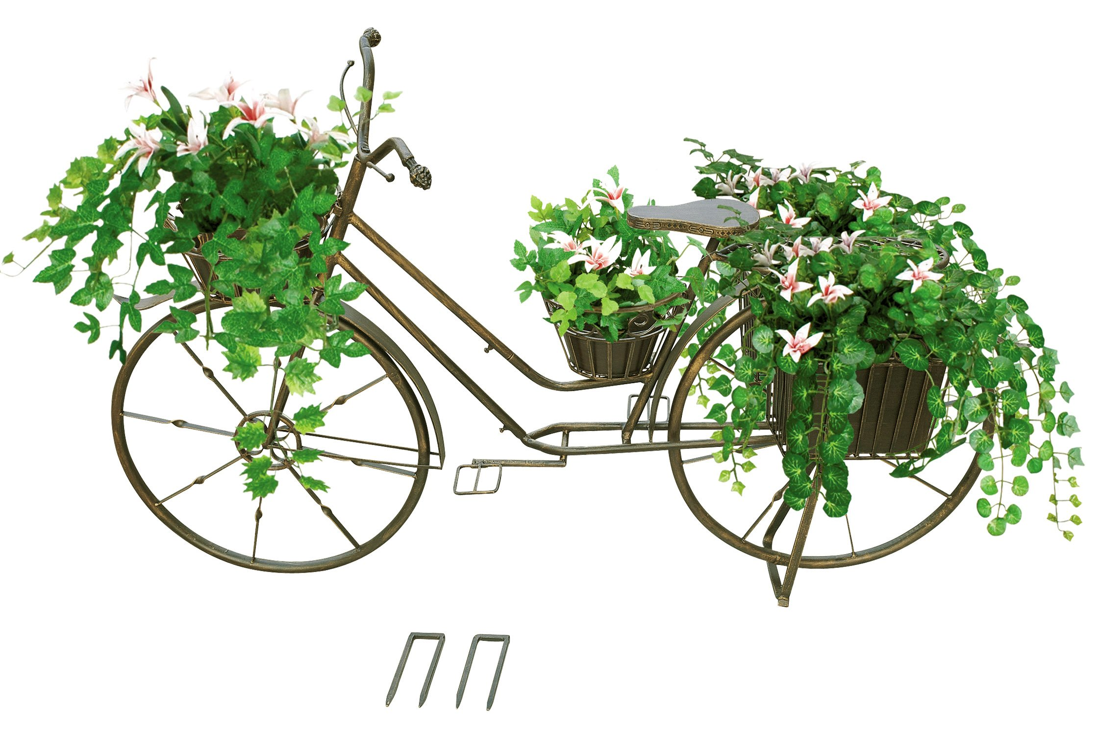 Red Carpet Studio Bronze Bicycle Planter, Large
