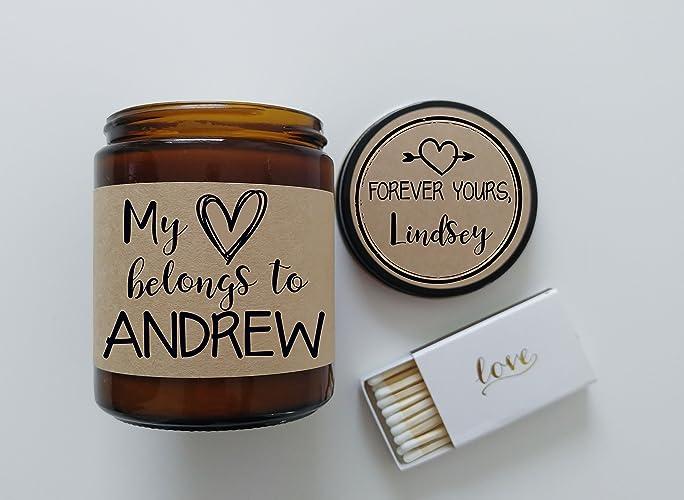 Amazon Com My Heart Belongs To Personalized Gift For Him Boyfriend