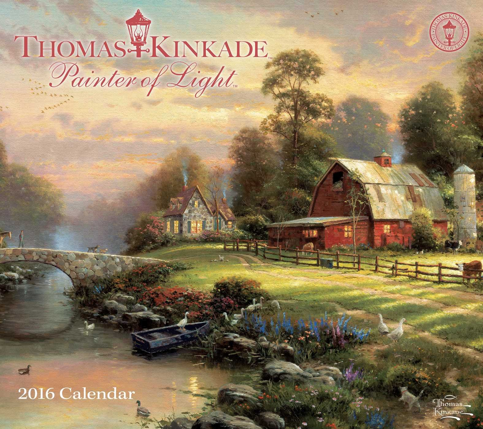 Thomas Kinkade Painter Of Light 2016 Deluxe Wall Calendar: Thomas Kinkade:  0050837343337: Amazon.com: Books