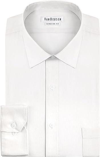 Van Heusen Men/'s Contemporary Fit Herringbone Dress Shirt White