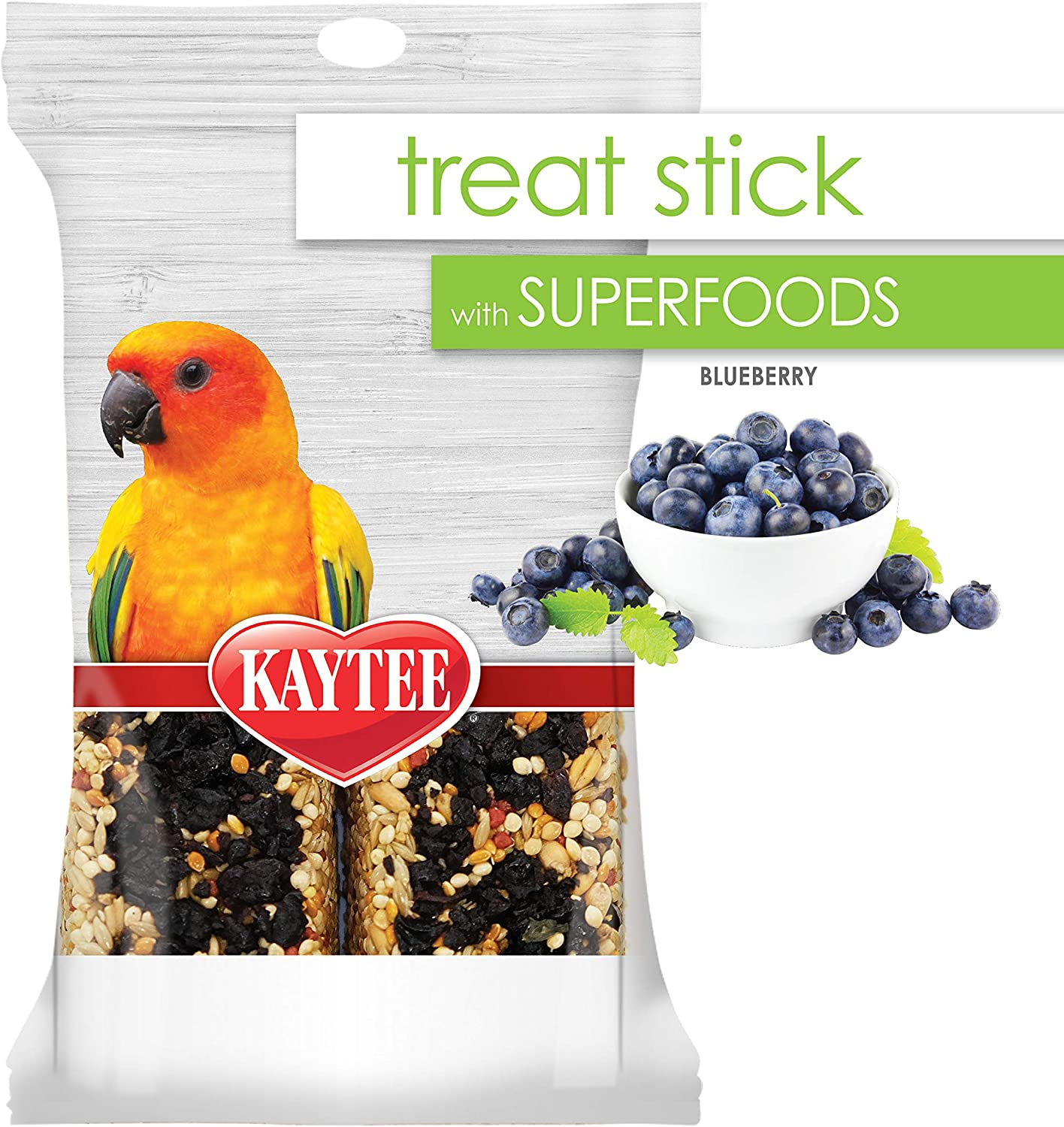 Kaytee Avian Superfood Treat Stick Blueberry 5.5 Ounces