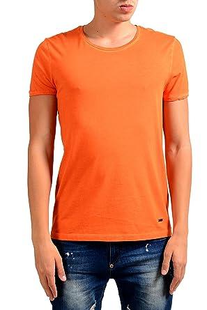 ec8e2b3cc Image Unavailable. Image not available for. Color: Hugo Boss Orange Touring Men's  Orange Crewneck T-Shirt ...