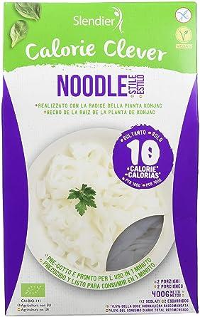 Slendier Pasta Konjac Noodle - 3 Paquetes de 400 gr - Total: 1200 gr