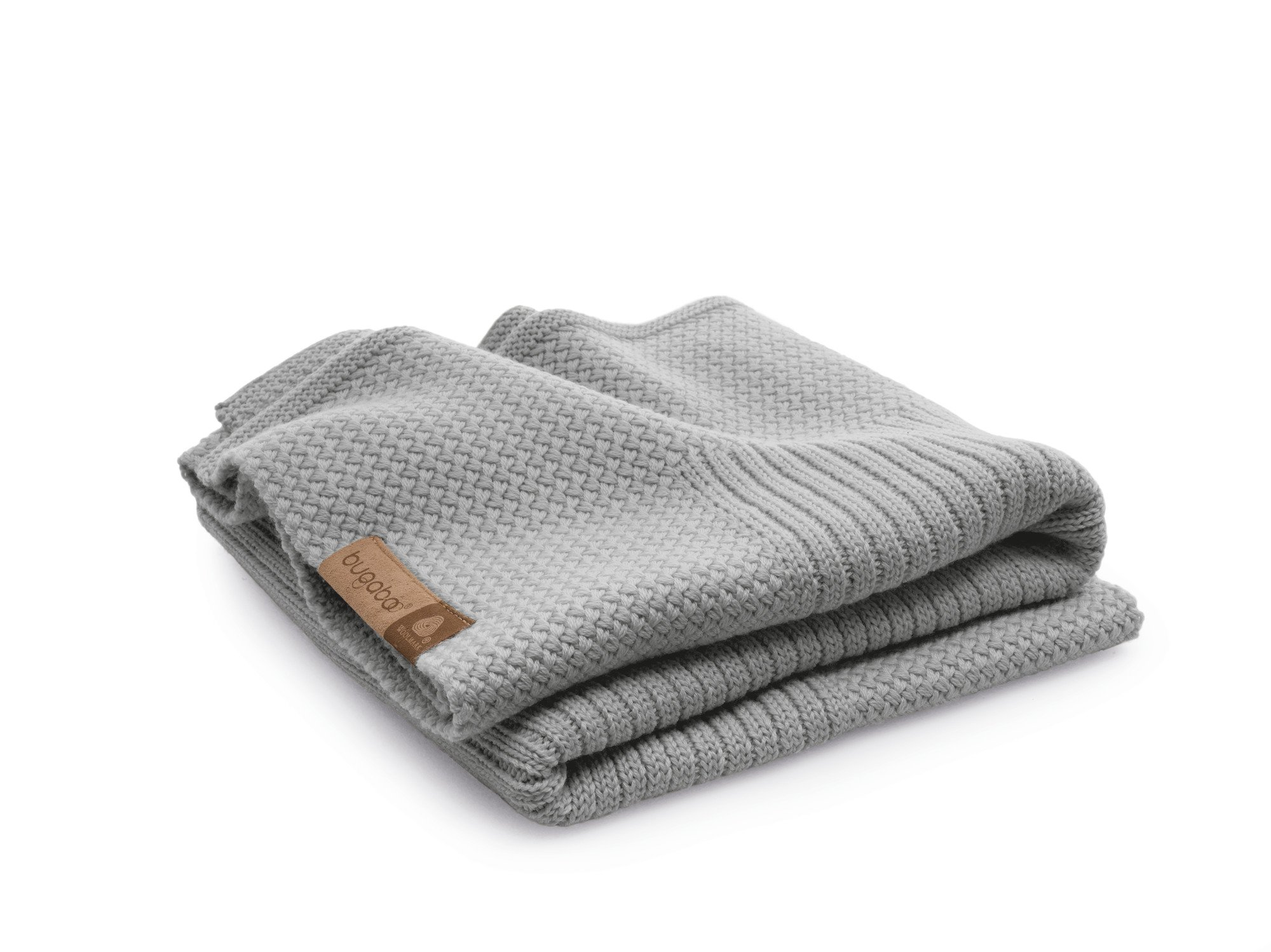 Bugaboo Soft Wool Blanket, Light Grey Melange