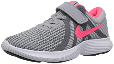 902eeb62b81ec Nike Girls  Revolution 4 (PSV) Running Shoe Wolf Racer Pink-Cool Grey