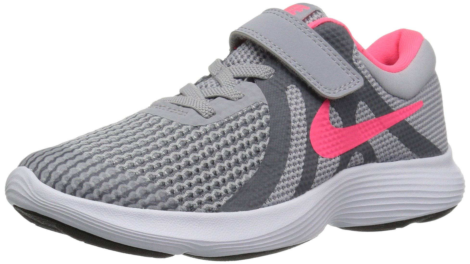 NIKE Girls Revolution 4 (PSV) Running Shoe, Wolf Racer Pink-Cool Grey-White, 3Y Child US Little Kid