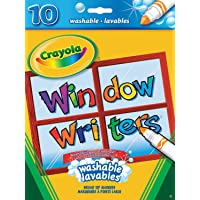 Crayola Washable Window Markers, Craft Supplies, Drawing Gift for Boys and Girls, Kids, Teens Ages  5, 6,7, 8 and Up, Holiday Toys, Stocking Stuffers, Arts and Crafts, Easter Basket Stuffers, Easter Gifting