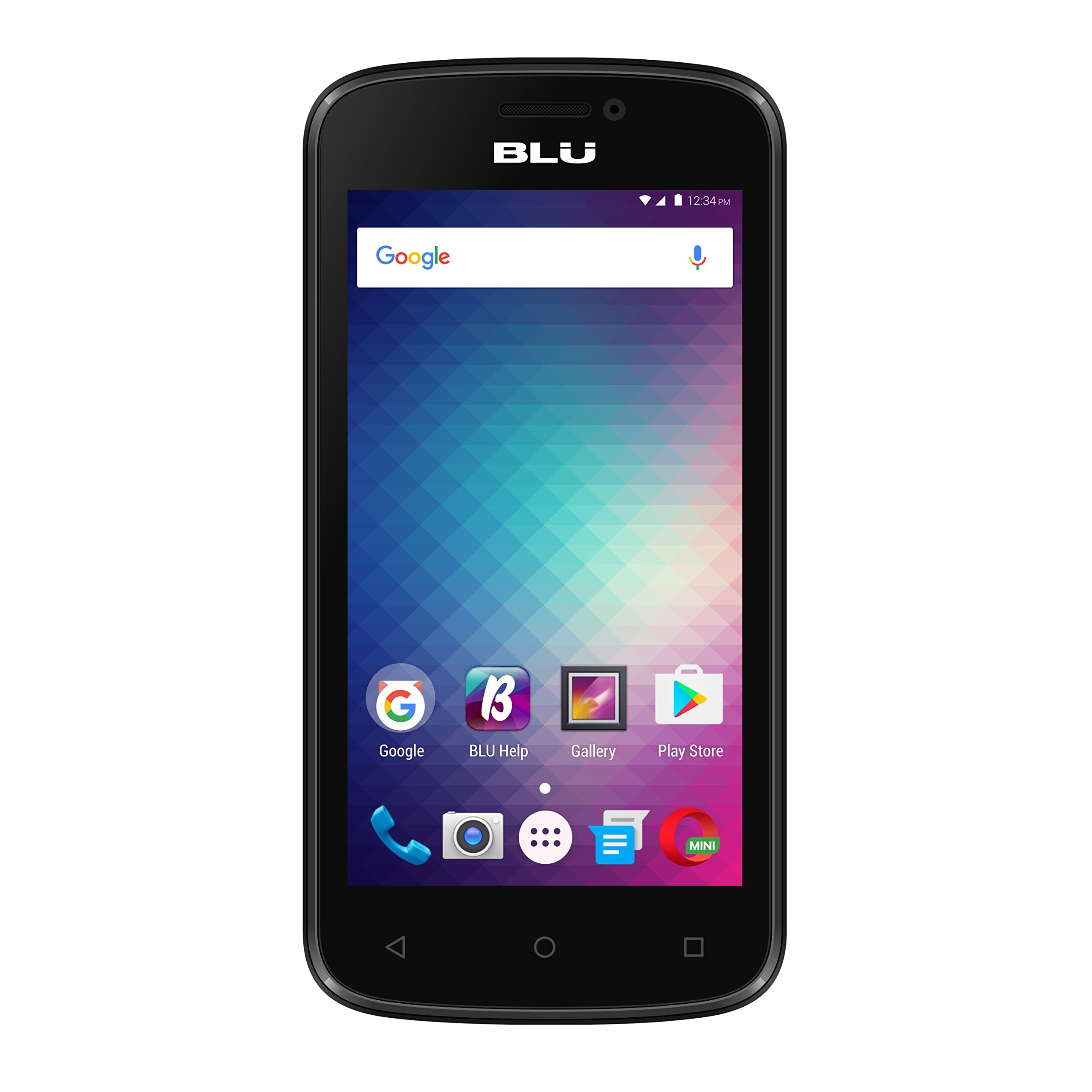 BLU Advance 4.0M Unlocked GSM Dual-SIM Quad-Core Android Marshmallow Smartphone - Black (Certified Refurbished)
