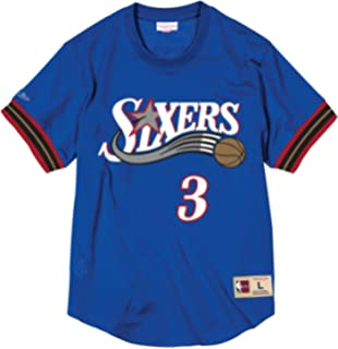 057d14f1 Mitchell & Ness NBA Philadelphia 76ers Allen Iverson #3 Mesh Crewneck Jersey