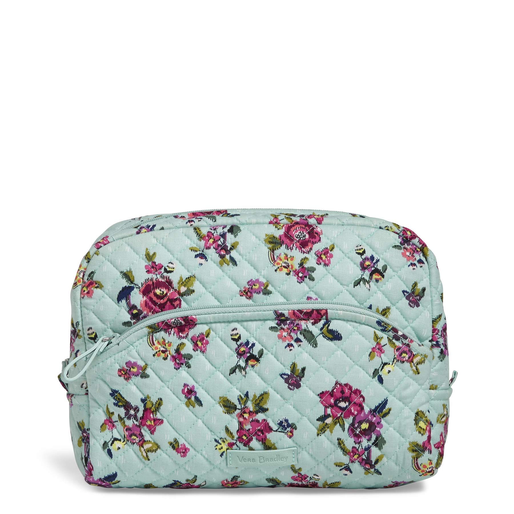 Vera Bradley Iconic Large Cosmetic, Signature Cotton, water bouquet