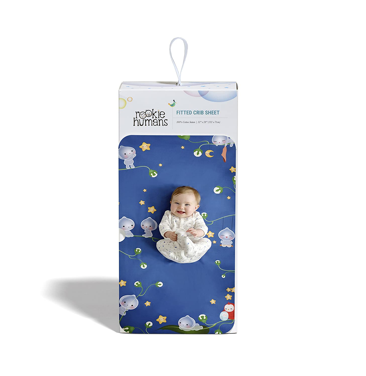 52 x 28 inches Standard Crib Size Rookie Humans 100/% Cotton Sateen Fitted Crib Sheet: Magic Forest Modern Nursery Use as a Photo Background for Your Baby Pictures SILVIA002