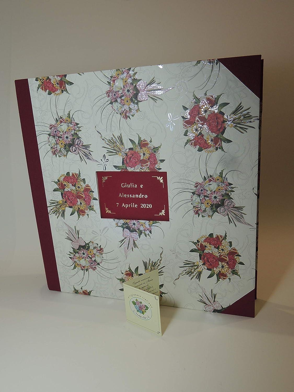 Album de fotos a mano Matrimonio PERSONALIZABLE con su Caja 33x33-50 hojas - Papel Casado: Amazon.es: Handmade