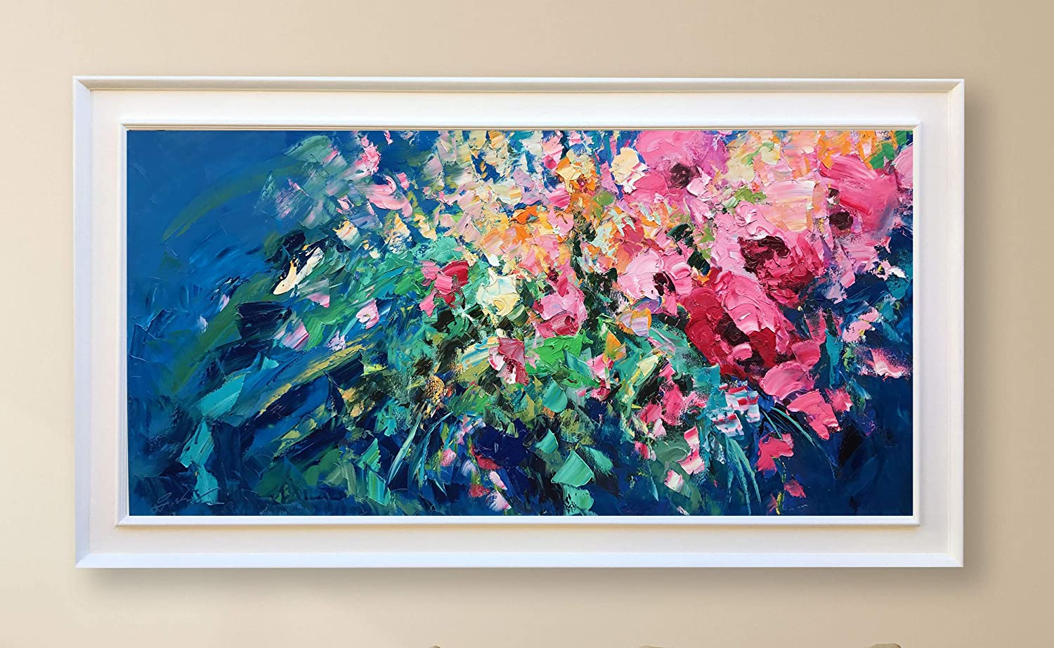 Amazon Com Flowers Painting On Canvas 48 Abstract Painting