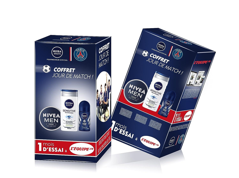 NIVEA MEN Coffret Collector Paris Saint-Germain Produits Stars avec 1 Mois d'Essai à L'Equipe Premium