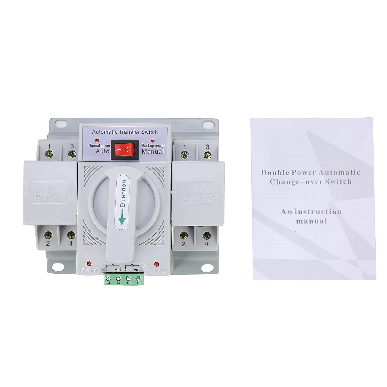 Yaetek 2p 63a 110v Mcb Type Dual Power Automatic Transfer Switch Ats 4 Circuit
