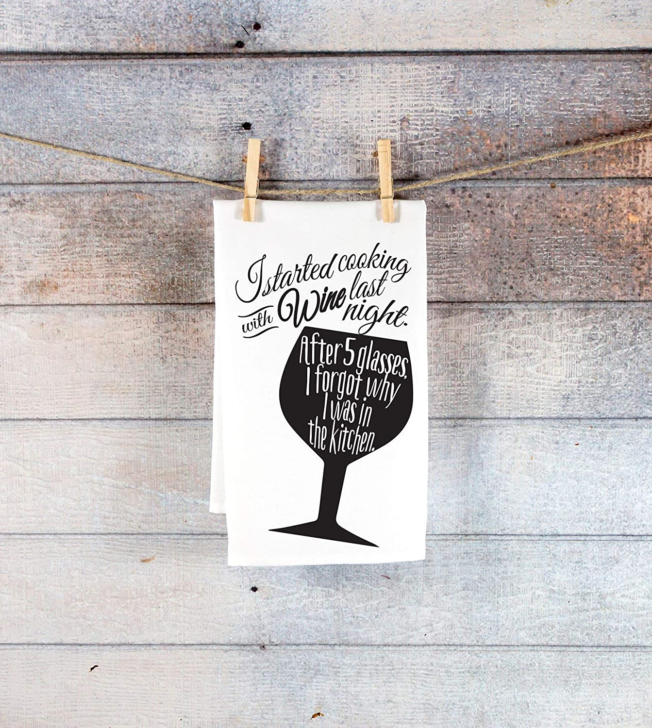 Amazon Com Funny Kitchen Tea Towel Gift For Wine Lover Funny Tea Towel Kitchen Decor Holiday Christmas Gift Ideas For Him Or Her Handmade
