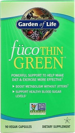 Garden Of Life, Fucothin Green, 90 Vegg Capsules
