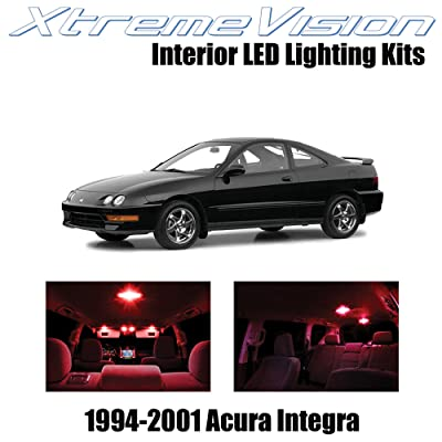 Xtremevision Interior LED for Acura Integra 1994-2001 (6 Pieces) Red Interior LED Kit + Installation Tool: Automotive