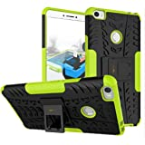 Heartly Xiaomi Mi Max Back Cover Kick Stand Rugged Shockproof Tough Hybrid Armor Dual Layer Bumper Case - Great Green