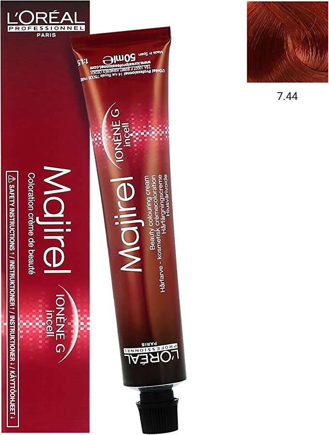 L Oréal majirel 7,44 mittelblond Tiefes Cobre 50 ml