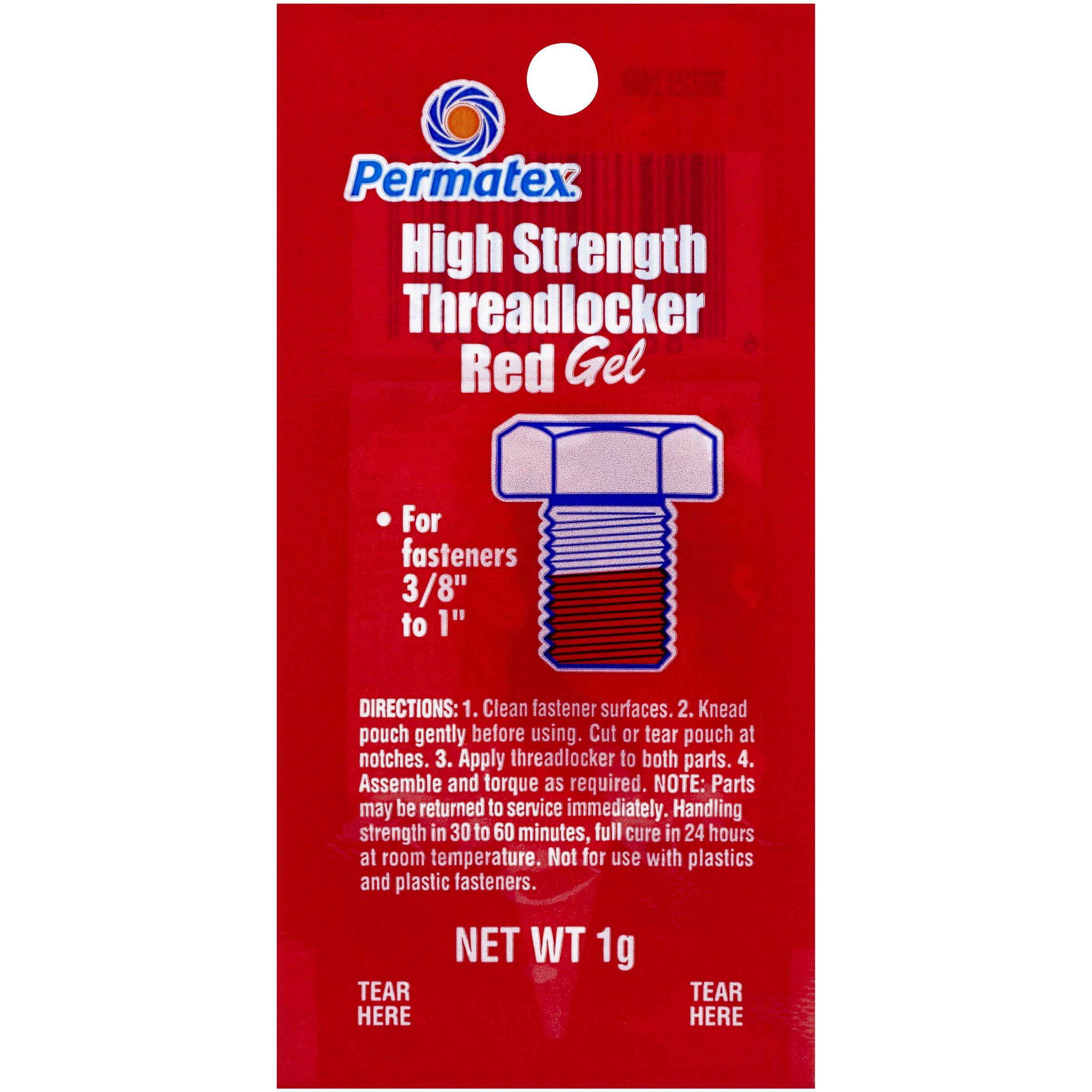 Permatex 09979-480pk Counterman's Choice Threadlocker Red (Pack of 480) by Permatex