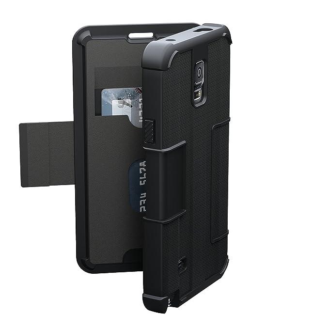official photos 61e8e 025fa URBAN ARMOR GEAR [UAG] Folio Samsung Galaxy Note 4 Feather-Light Composite  [Black] Military Drop Tested Phone Case