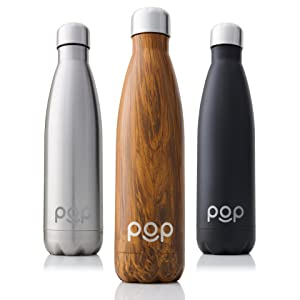 POP Design Stainless Steel Vacuum Insulated Water Bottle