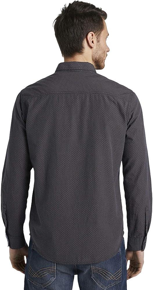 Tom Tailor Ray Struktur Camisa, Dobby De La Marina Camel Cross, S para Hombre: Amazon.es: Ropa y accesorios