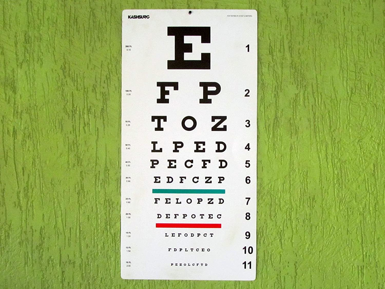 Amazon snellen and tumbling e non reflective matte finish amazon snellen and tumbling e non reflective matte finish wall eye chart size 22 x 11 inch combo pack health personal care geenschuldenfo Images