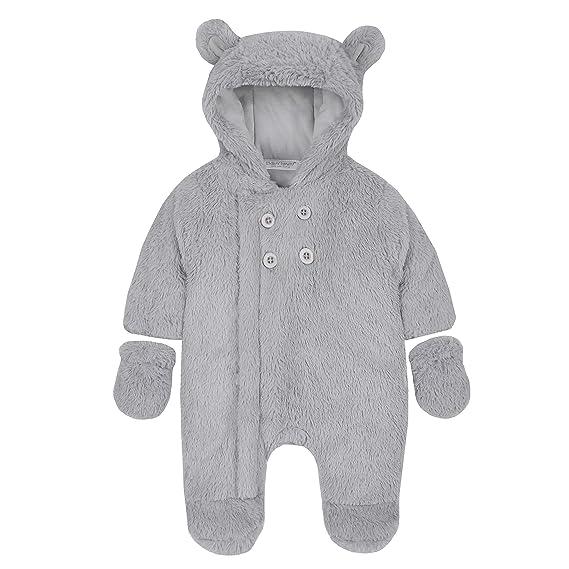 0627baa6906f BABY TOWN Babies Snowsuit Pram Suit Snuggle Fleece Lined Pink Cream ...