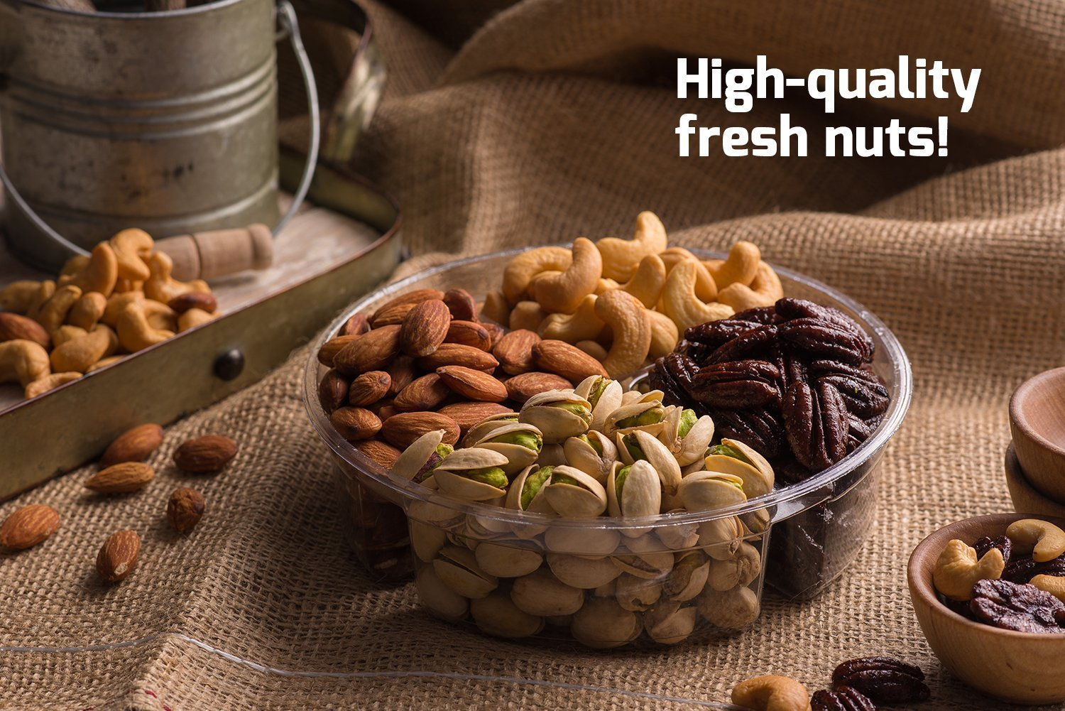 Mother's Day Nuts Gift Basket | Medium 4-Sectional Delicious Variety Mixed Nuts Prime Gift | Healthy Fresh Gift Idea For Christmas, Thanksgiving, Mothers & Fathers Day, And Birthday by Nut Cravings (Image #4)