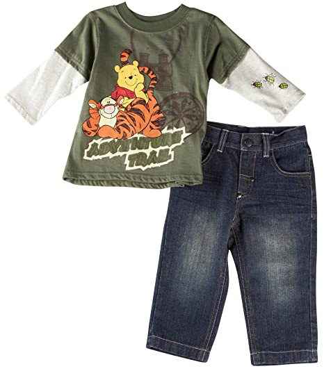 Winnie the Pooh and Tigger Infant Boys 2pc Adventure Trail Jeans Set (12mos) a59c27488