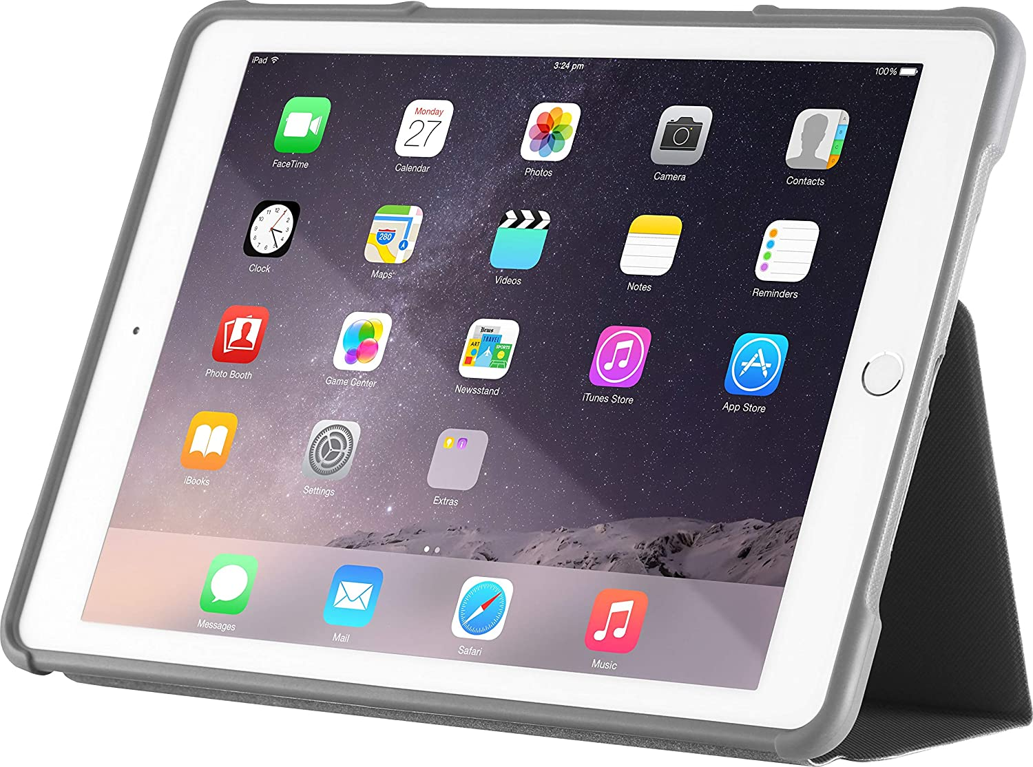 pretty nice 45205 75cff STM Dux, rugged case for Apple iPad Air 2 - Black (stm-222-104J-01)