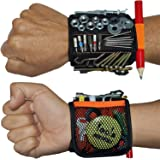 Magnetic Wristband with 20 Strong Magnets for Holding Screws, Nails, Drill Bits. Best Unique Tool Gift for Men, Father…